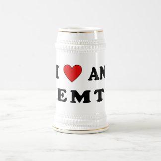 I Love An EMT Beer Stein