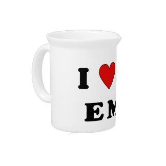 I Love An EMT Beverage Pitchers