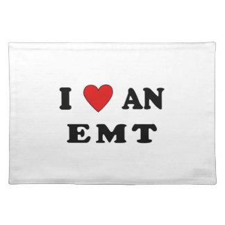 I Love An EMT Cloth Placemat