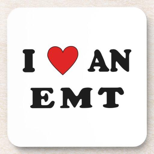 I Love An EMT Drink Coaster