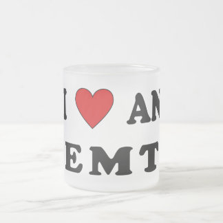 I Love An EMT Frosted Glass Coffee Mug