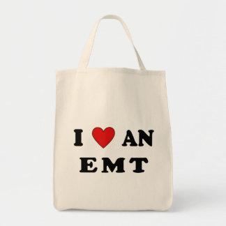 I Love An EMT Grocery Tote Bag