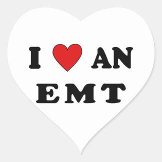 I Love An EMT Heart Sticker