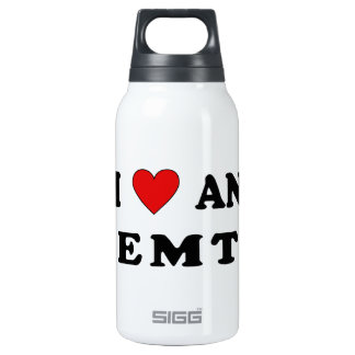 I Love An EMT Insulated Water Bottle