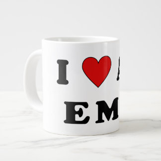 I Love An EMT Jumbo Mugs