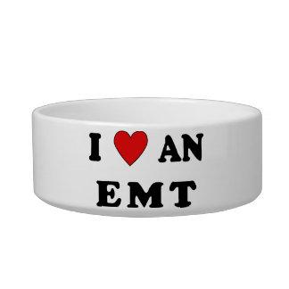 I Love An EMT Pet Food Bowl