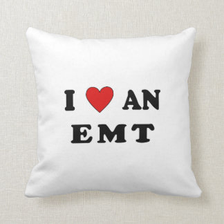 I Love An EMT Pillows