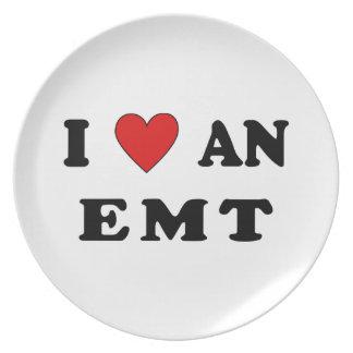 I Love An EMT Plate