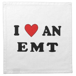 I Love An EMT Printed Napkin