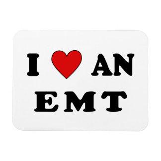 I Love An EMT Rectangular Magnets