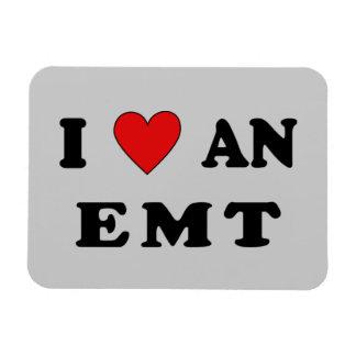 I Love An EMT Rectangular Photo Magnet