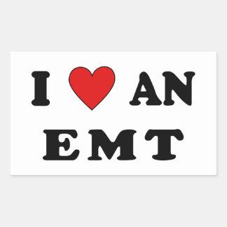 I Love An EMT Rectangular Sticker