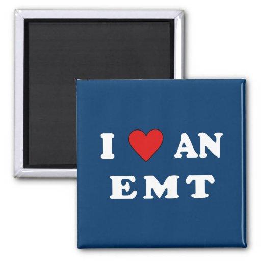 I Love An EMT Refrigerator Magnet