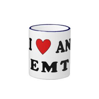 I Love An EMT Ringer Mug