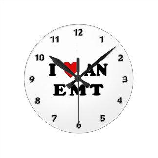 I Love An EMT Round Clocks