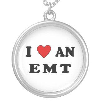 I Love An EMT Round Pendant Necklace