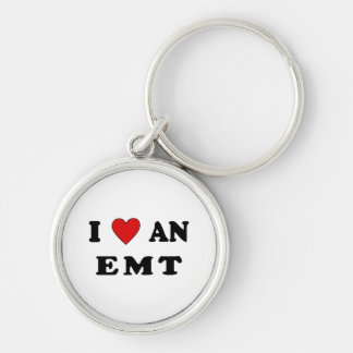 I Love An EMT Silver-Colored Round Keychain