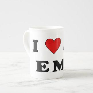 I Love An EMT Porcelain Mugs