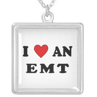 I Love An EMT Square Pendant Necklace