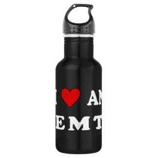 I Love An EMT Stainless Steel Water Bottle