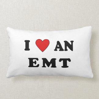 I Love An EMT Throw Pillows