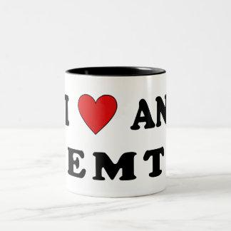 I Love An EMT Two-Tone Coffee Mug
