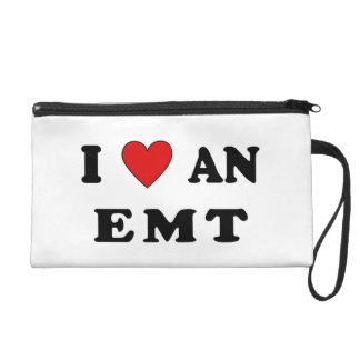 I Love An EMT Wristlet Clutch