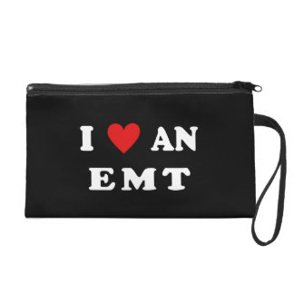 I Love An EMT Wristlet Clutches