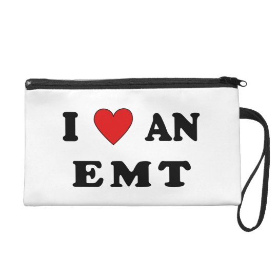 I Love An EMT Wristlet Purse