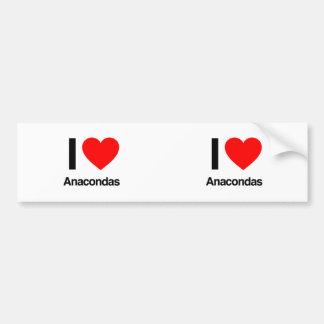 i love anacondas car bumper sticker