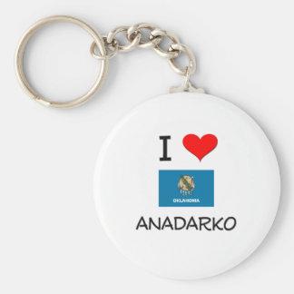 I Love Anadarko Oklahoma Keychain