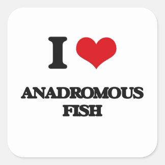I love Anadromous Fish Square Sticker