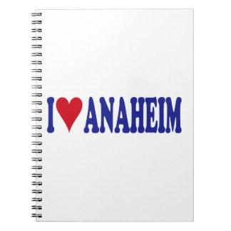 I Love Anaheim Spiral Notebook