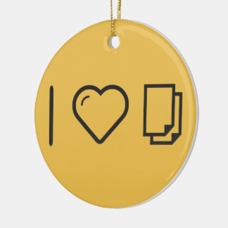 I Love Analizes Double-Sided Ceramic Round Christmas Ornament