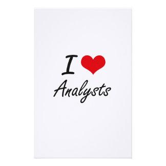 I Love Analysts Artistic Design Stationery
