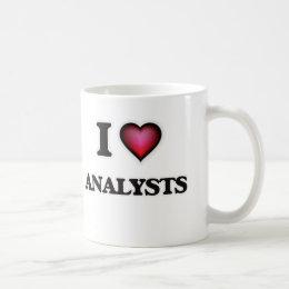 I Love Analysts Coffee Mug