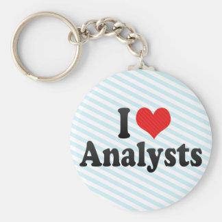 I Love Analysts Key Chains