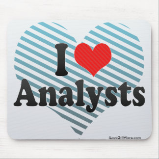 I Love Analysts Mousepads