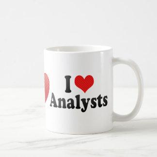 I Love Analysts Coffee Mugs