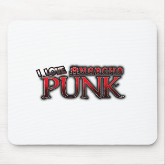 I Love Anarcho PUNK music Mouse Pad