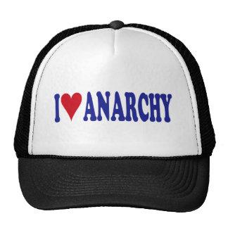 I Love Anarchy Mesh Hats