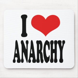I Love Anarchy Mouse Pad