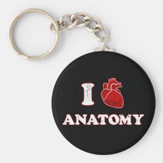 i love anatomy basic round button keychain
