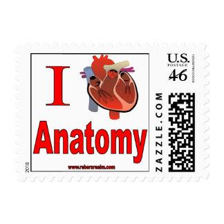 I Love Anatomy Postage Stamps