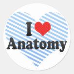 I Love Anatomy Stickers