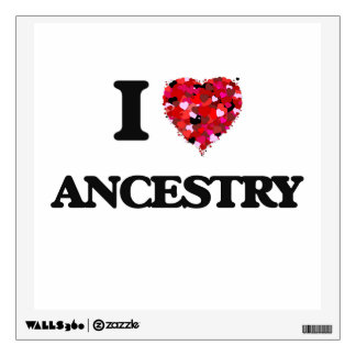 I Love Ancestry Wall Decal