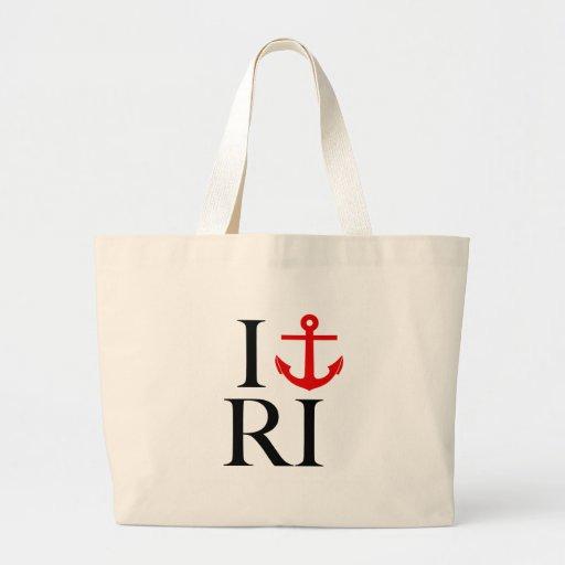 I Love (Anchor) RI Canvas Bag