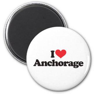 I Love Anchorage 2 Inch Round Magnet