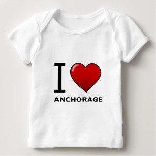 I Love Alaska Ak Heart Baby Clothes Apparel Zazzle