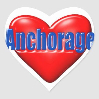 I Love Anchorage Alaska Heart Sticker